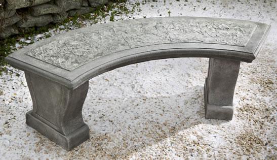 Leaf Curved Bench