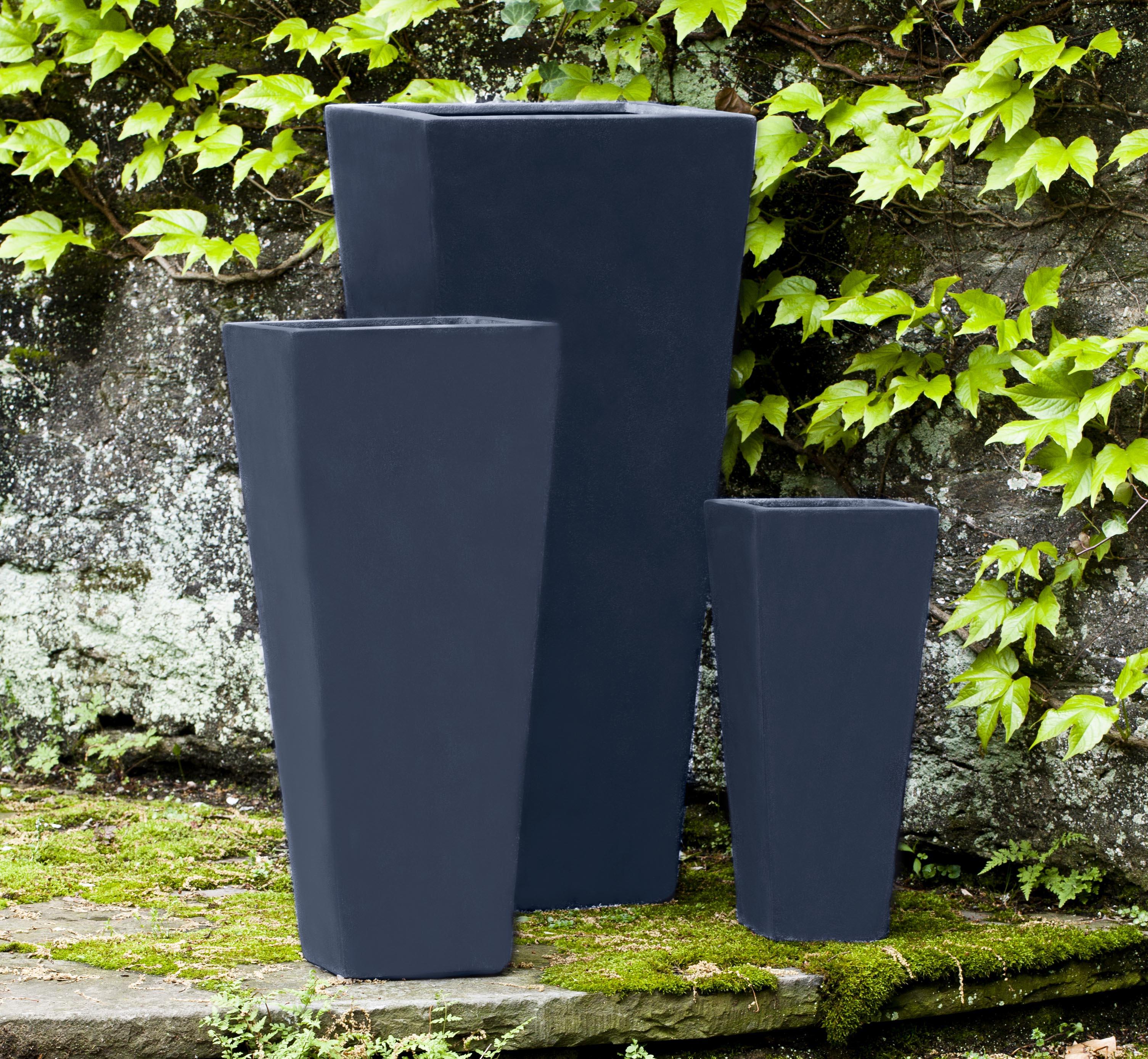 Ario Planter-Onyx Black Lite-S/3 – Campania International